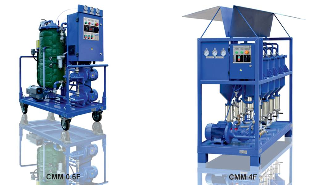Oil coalescer filtration system CMM-0.6F (capacity 600 LPH)